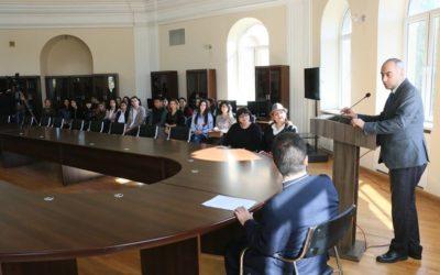 Թարգմանության մրցույթին մասնակցած ուսանողների դիպլոմների հանձնման միջոցառում Գևորգյան հոգևոր ճեմարանում
