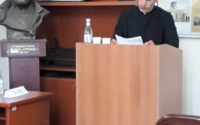 Գևորգյան հոգևոր ճեմարանից երկու սաներ մասնակցեցին ԵՊՀ ՈՒԳԸ միջազգային 5-րդ նստաշրջանին